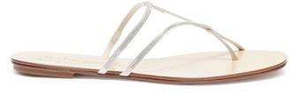 Pedro Garcia 'Estee' Swarovski crystal cross strap sandals
