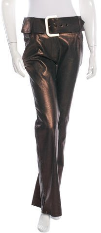 Christian Dior Metallic Flared Pants