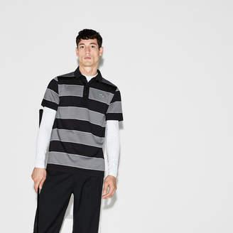 1d30020b9 Lacoste Men's SPORT Striped Stretch Jersey Golf Polo