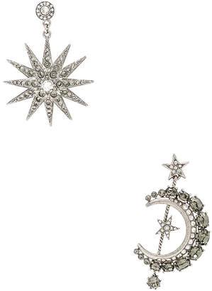 Oscar de la Renta Moon & Stars Earrings