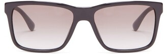 Prada Square Frame Sunglasses - Mens - Black