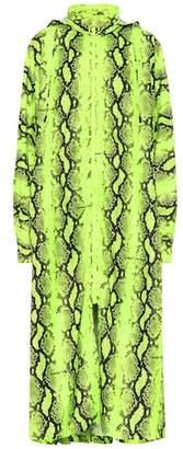 Off-White Python printed coat