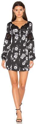 MAJORELLE Chloe Dress in Black & White $238 thestylecure.com