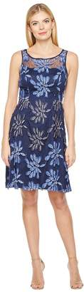 Adrianna Papell Sleeveless Fit and Flare Dress with Flowers Women's Dress