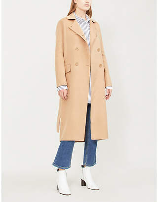 Maje Geola wool-blend double breasted coat