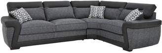 Very Geo Fabric and Faux Leather Right-Hand Corner Group Sofa Bed