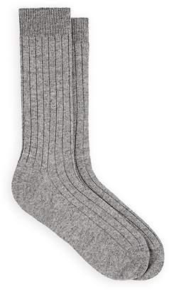 Barneys New York Men's Ribbed Cashmere Mid-Calf Socks