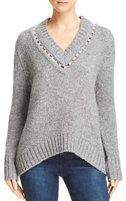 Aqua Embellishedl V-Neck Sweater - 100% Exclusive