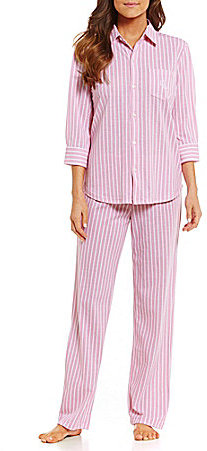 Lauren Ralph LaurenLauren Ralph Lauren Striped Pique Pajamas