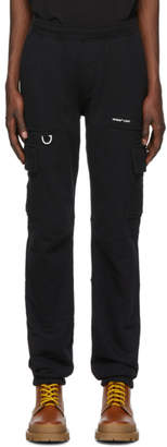 Off-White Off White Black Jersey Logo Cargo Trousers