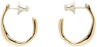 Faris Bronze Small Vero Hoop Earrings
