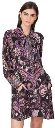 Hale Bob Poppy Paisley Satin Dress