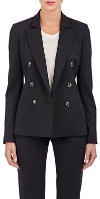 Barneys New York Women's Double-Breasted Blazer-BLACK $995 thestylecure.com