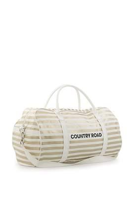 Country Road Classic Stripe Logo Tote