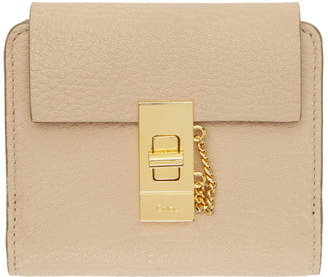 Chloé Pink Drew Compact Wallet