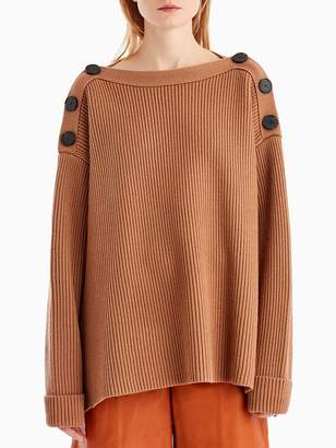 Long Sleeve Knit with Button Detail