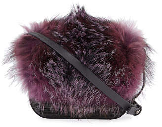 Brunello Cucinelli Fox Fur and Monili Mini City Bag