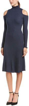 Rebecca Taylor Ribbed Wool Sweaterdress