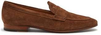 Tod's Round-toe suede penny loafers