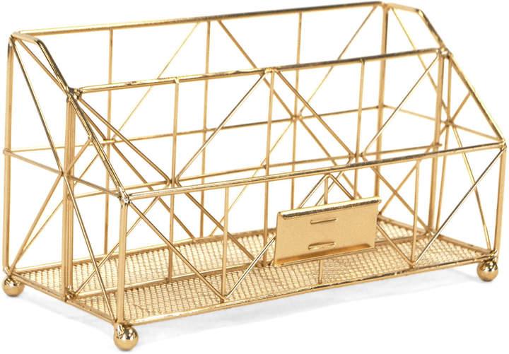 Robely Gold-Tone Desk Organizer