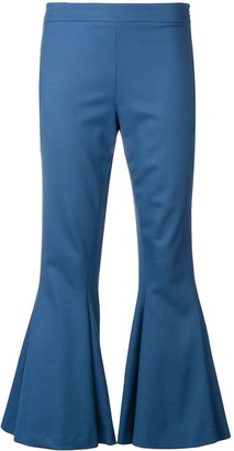 Marco De Vincenzo flared cropped trousers