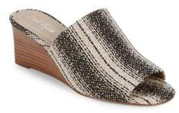 Lord & Taylor Textured Slip-On Sandals