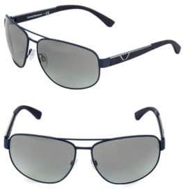 Emporio Armani EA2036 64MM Square Aviator Sunglasses