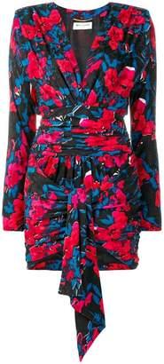 Saint Laurent V-neck wrap dress