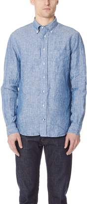 Gitman Brothers Long Sleeve Linen Chambray Shirt