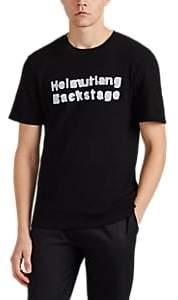 "Helmut Lang RE-EDITION Men's ""Backstage"" Waffle-Knit Cotton T-Shirt - Black"