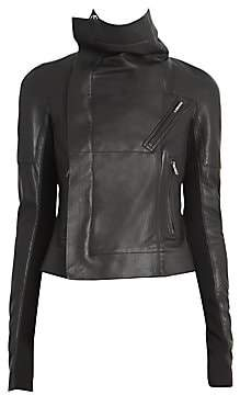 Rick Owens Women's Sisy Leather & Wool Biker Jacket