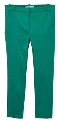 MANGO Crop slim-fit trousers