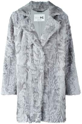 Manzoni 24 notch collar fur coat