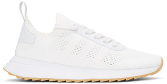 adidas Originals White Flashback Sneakers $120 thestylecure.com
