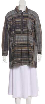 Billy Reid Long Sleeve Plaid Tunic