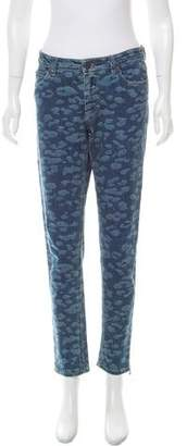 Lanvin Printed Mid-Rise Jeans