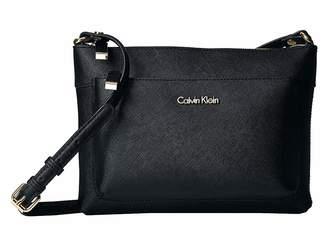 Calvin Klein Key Item Saffiano Leather Crossbody