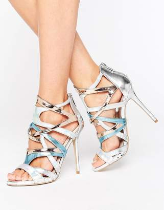 Carvela Gum Metallic Multi Strap Heeled Sandals