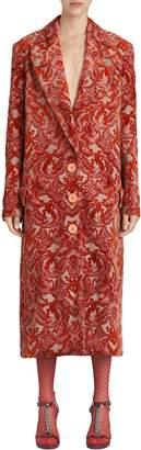Burberry Damask Velvet Jacquard Coat