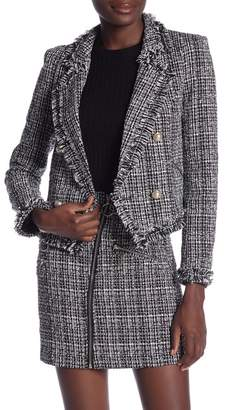 Romeo & Juliet Couture Tweed Faux Pearl Button Blazer