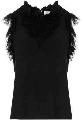 Ingie Paris ruffled neck sleeveless top