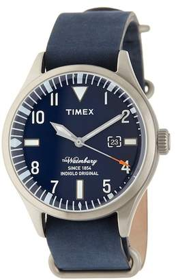 Timex Men's The Waterbury Leather Strap Watch, 41mm