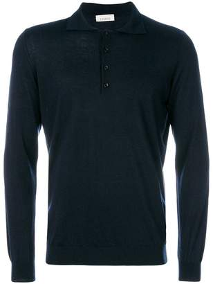 Laneus long sleeve polo shirt