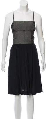 Narciso Rodriguez Pleated Tweed Dress