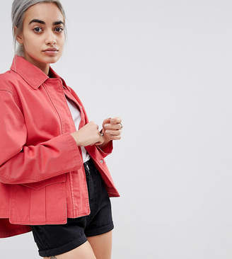 Asos DESIGN Petite washed cotton jacket