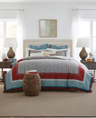 Tommy Hilfiger Prairie Cotton Reversible 2-Pc. Patchwork Twin Duvet Cover Set Bedding