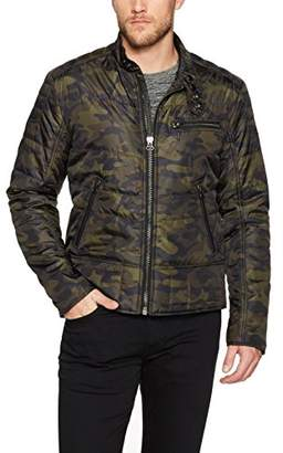 William Rast Men's Ratso Quilted Moto Jacket