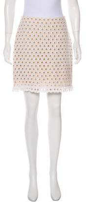 Michael Kors Linen Eyelet Mini Skirt