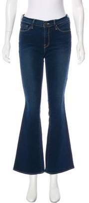 Frame Mid-Rise Wide Leg Jeans