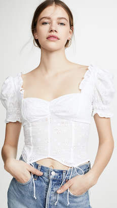 For Love & Lemons Bleau Short Sleeve Top